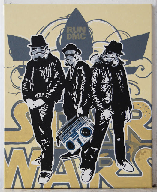 Art by Stir Fry Willie  http://www.commissionfanart.com/2011/09/star-wars-run-dmc.html